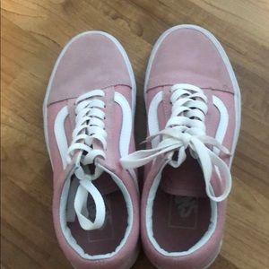 Hardly worn baby pink vans